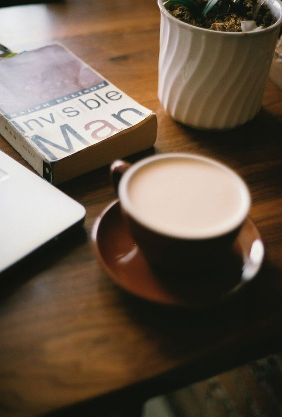 A cup off coffee and a good book.
