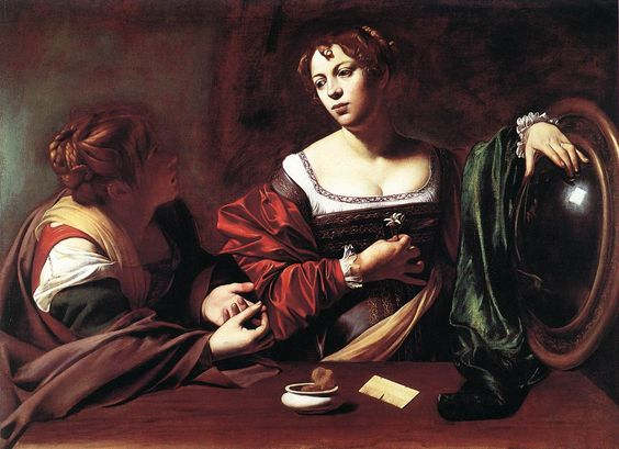 Martha and Mary Magdalene by Caravaggio: