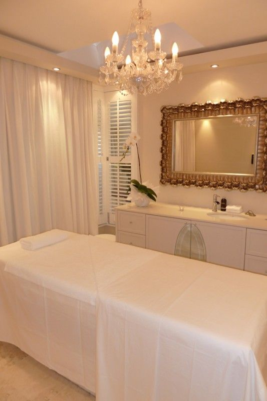 The main treatment room, complete with shower for those beautiful body wraps and scrubs.