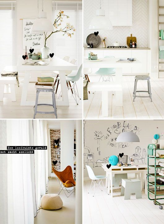 White room with a pop of color