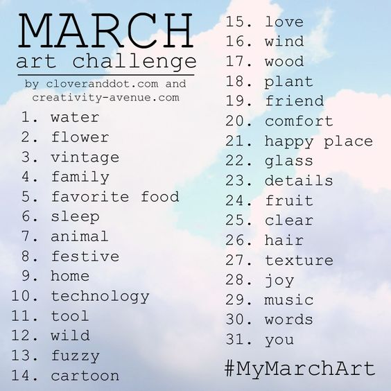Clover and Dot: March Art Challenge - Join Us!                              …