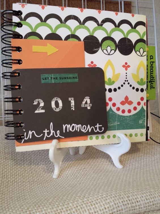 Mini Album Cosmo Cricket 2014 Moments Junk Journal Scrapbook Smash Book Pre-Made