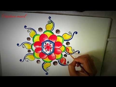 Creative Mind Muggulu Rangoli Design Alpona Design Rangoli