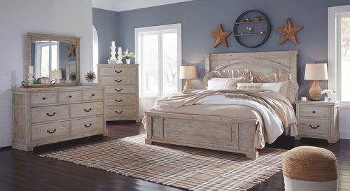 Ashley Charmyn White Wash Dresser Mirror Wood Bedroom Sets Bedroom Panel Bedroom Furniture Sets