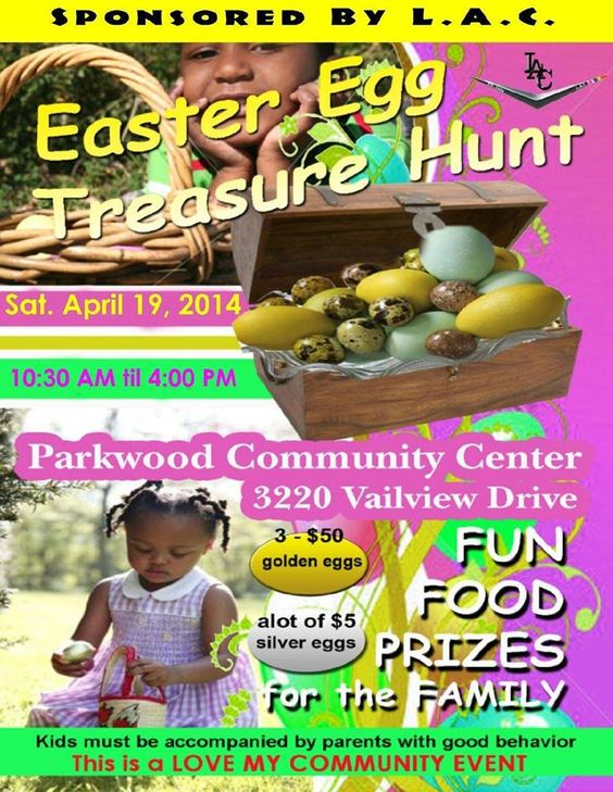 Easter Egg Treasure Hunt FREE for all ages