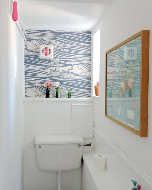 A 1950s uk home mixes the old and the new on design sponge what i love about my home - Design sponge bathrooms ...