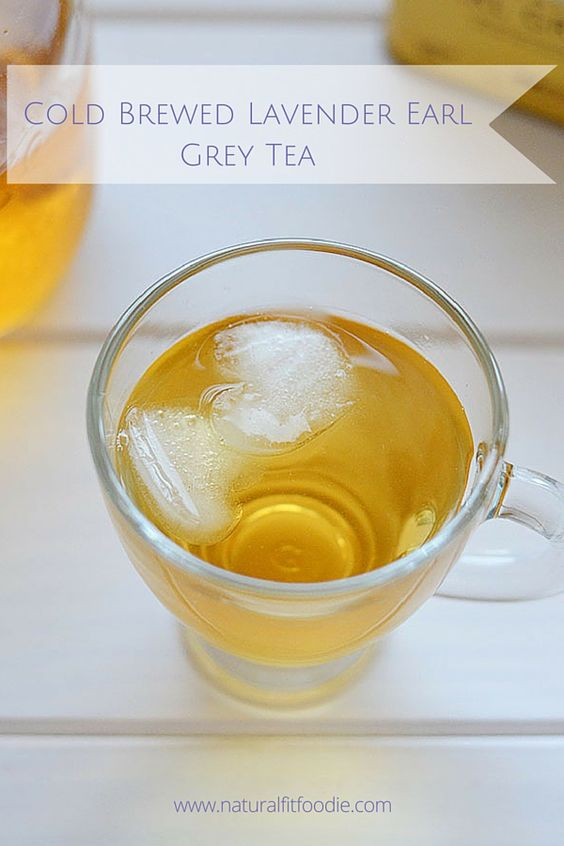 Cold Brewed Lavender Earl Grey Tea - Natural Fit Foodie