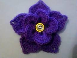 Картинки по запросу цветок крючком на шапку