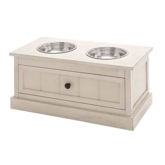 Malibu Solid Wood Pet Bowl Feeder with Storage Drawer | Overstock.com Shopping - The Best Deals on Feeders