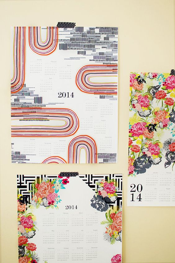 explore rooted 2014 2014 large and more large canvas wall calendars ...