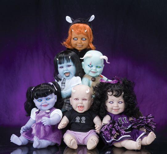 Krypt Kiddies: Ass Dolls, Dolls Krypt, Dolls Dark, Halloween Dolls Pumpkin, Cool Dolls, Creepy Dollz, Creepy Dolls, Krypt Dolls, Altered Dolls
