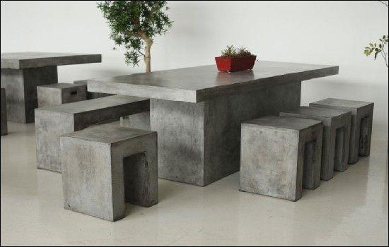 30 Modeles De Table De Style Industriel Idee De Deco Table A Manger Moderne Mobilier Maison Meubles En Beton