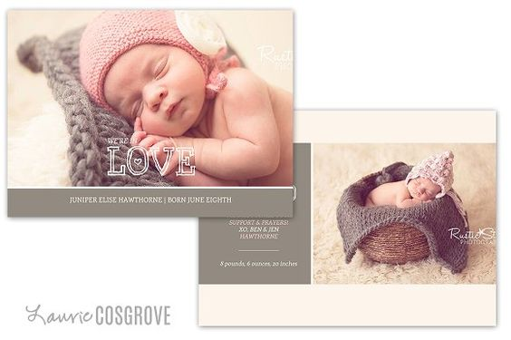 Baby Birth Announcement Template by By Stephanie Design on - announcement template free