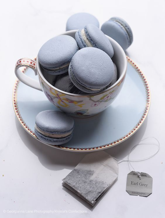 Would love to try one of these Krystel's Confections macarons, photographed by Georgianna Lane.