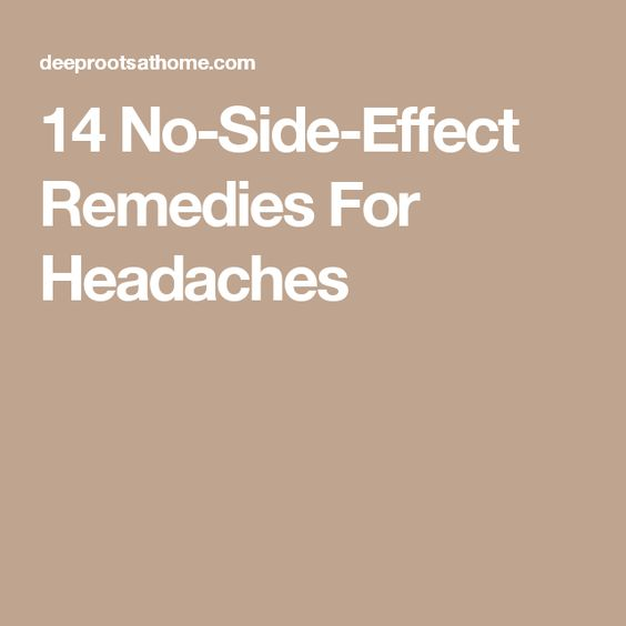 14 No-Side-Effect Remedies For Headaches
