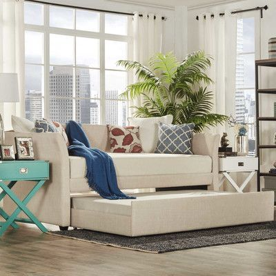Three Posts Burlington Daybed with Trundle Color: Beige
