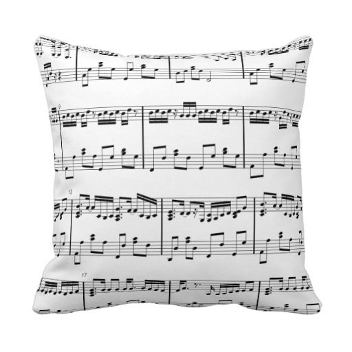 Sale On Sheet Music Pillow Black And White Sheet Music