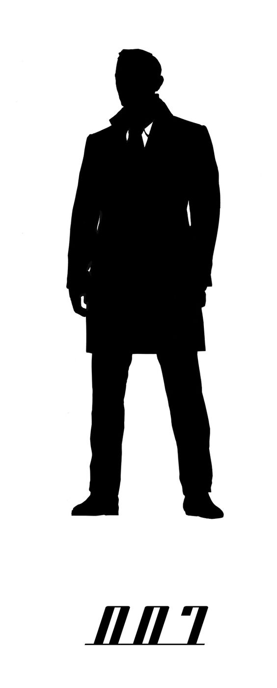 Daniel Craig as 007, James Bond silhouette | 100 ...