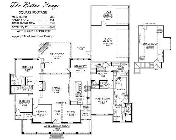 Madden Home Design The Baton Rouge Madden Home Design House Plans House Design