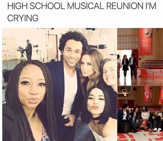 High school musical reunion<<the one the MAIN CHARACTER didn't go to? Oh yeah that one!<<He was filiming bad neighbour 2