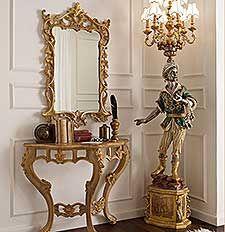 Mobili consolle classiche e di lusso in stile veneziano e for Case di lusso in stile spagnolo