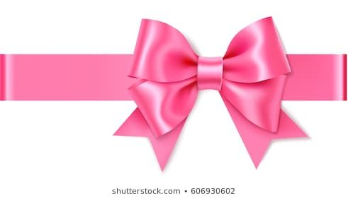 Decorative Pink Bow With Horizontal Ribbon Vector Rose Bow For Page Decor Isolated On White Bows Fabric Hair Bows Crochet Hair Bows