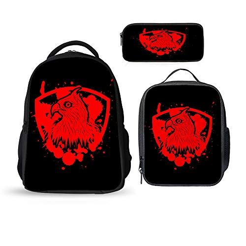 Animal Backpack Cool Tiger Rucksack For Teenager Boys School Lunch Pencil Case