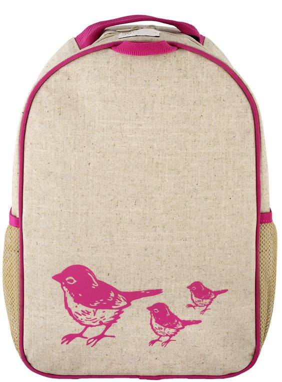 Toddler Backpack - Pink Birds Purchase from zoolittles.com.au