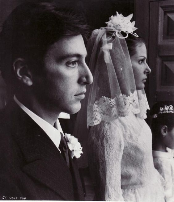 "Al Pacino (Michael Corleone) and Simonetta Stefanelli (Apollonia Vitelli) - The Godfather directed by Francis Ford Coppola (1972) - Novel ""The Godfather"" by Mario Puzzo"