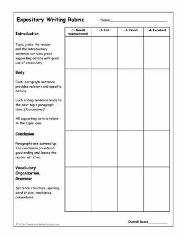 Expository-Writing-Rubric