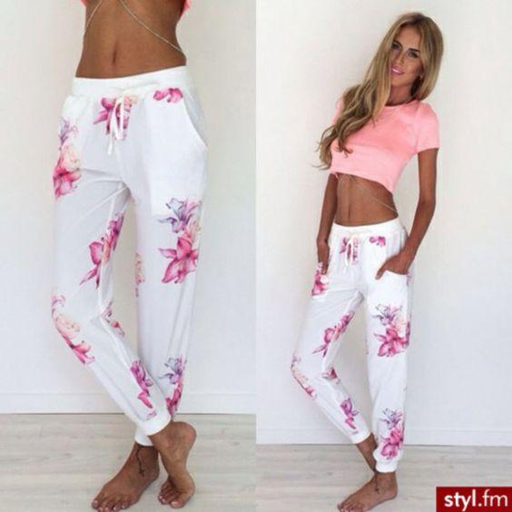 Tropical Garden Pants Sabo Skirt Ropa Pantalon Dama Outfits