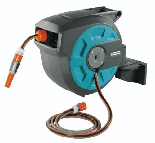 GARDENA 15 Roll-Up Swivel Wall-Mounted Automatic Hose Box with 50-Feet of 1/2-Inch Convenient Hose Guide Gardena,http://www.amazon.com/dp/B00BQF9INS/ref=cm_sw_r_pi_dp_kMQDtb0G8TFQK86R
