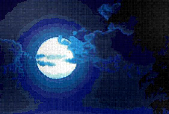 Cross Stitch | Good Night xstitch Chart | Design