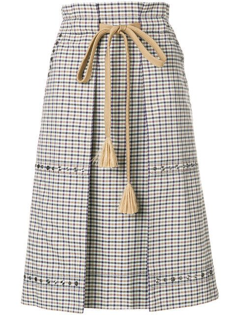 Sonia Rykiel checked pencil skirt