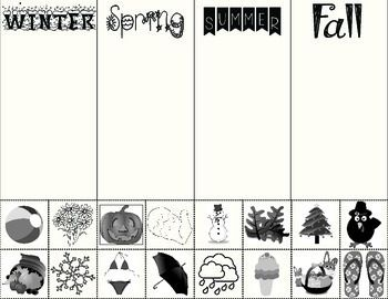 Number Names Worksheets kindergarten cut and paste worksheets free : Seasons, Kindergarten and Kindergarten freebies on Pinterest