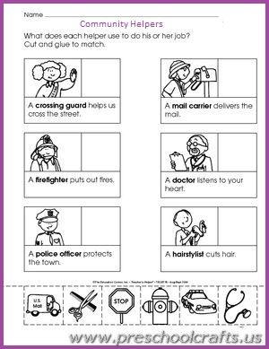 Occupation Worksheets For Preschool Community Helpers Worksheets Social Studies Worksheets Community Helpers Kindergarten - Download Preschool Community Helpers Worksheets For Kindergarten Images