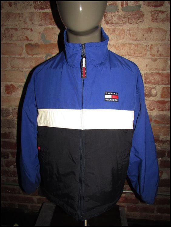 vintage 90 39 s tommy hilfiger reversible jacket fleece. Black Bedroom Furniture Sets. Home Design Ideas