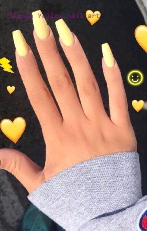 23 Great Yellow Nail Art Designs 2020 Nailarts Nailart In 2020 Acrylic Nail Designs Yellow Nails Yellow Nail Art