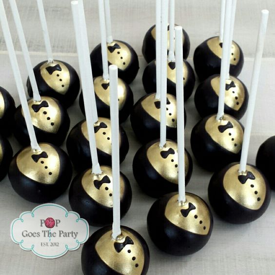 how to make gold cake pops