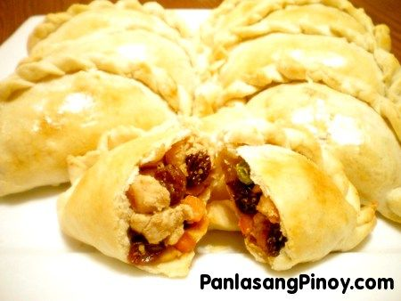 Chicken Empanada is a type of pastry that is stuffed with chicken meat ...