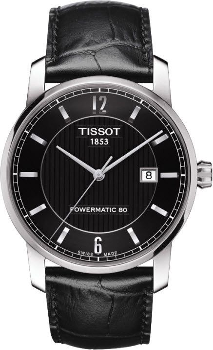 Tissot Watch Titanium Automatic #bezel-fixed #bracelet-strap-leather #brand-tissot #case-depth-9-75mm #case-material-titanium #case-width-40mm #date-yes #delivery-timescale-call-us #dial-colour-black #gender-mens #luxury #movement-automatic #official-stockist-for-tissot-watches #packaging-tissot-watch-packaging #style-dress #subcat-t-classic #supplier-model-no-t0874074605700 #warranty-tissot-official-2-year-guarantee #water-resistant-50m