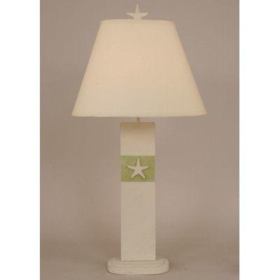 "Coast Lamp Mfg. Coastal Living Star Fish Panel 30"" H Table Lamp with Empire Shade"