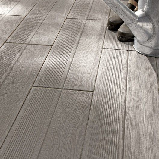 Carrelage ext rieur avoriaz en gr s c rame maill gris for Carrelage clipsable leroy merlin