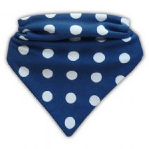 Special needs bib blue polka dot