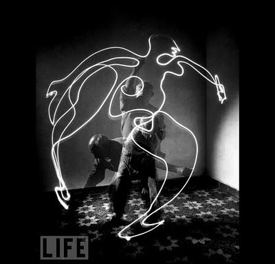 One of the drawings with light Picasso did for Life photographer Gjon Mili in 1949.
