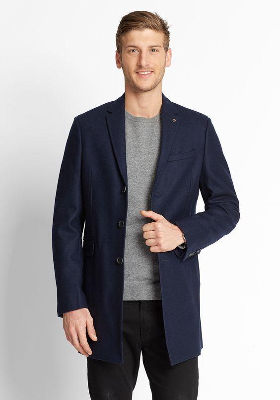 BEN SHERMAN Wool Coat MF11786 Ben Sherman   frontlineshop.com