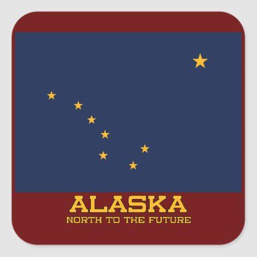 Alaska State Flag And Motto Sticker Zazzle Com State Flags Alaska Flag Flag