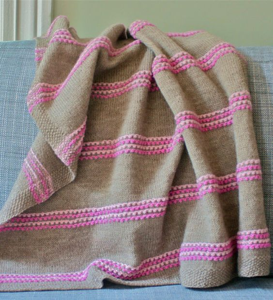 Knitting Pattern For Simple Blanket : Simple Baby Blanket Knitting Pattern Crochet Pinterest ...