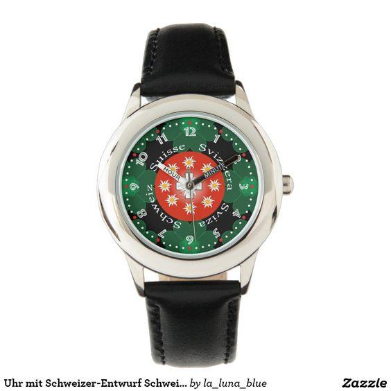 Uhr mit Schweizer-Entwurf Schweiz Suisse