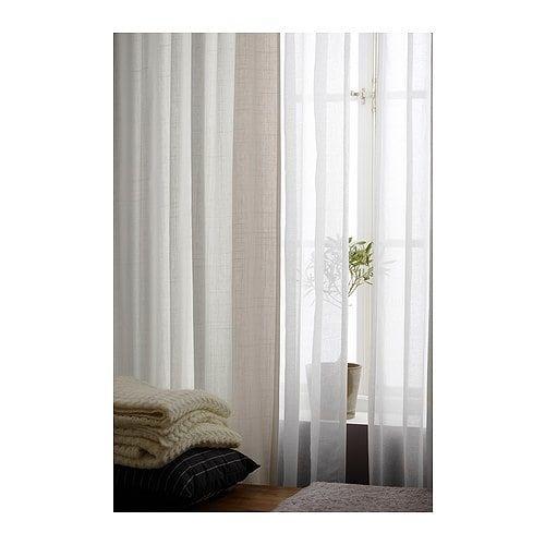 Ritva Curtains With Tie Backs 1 Pair White 57x98 Extra Long